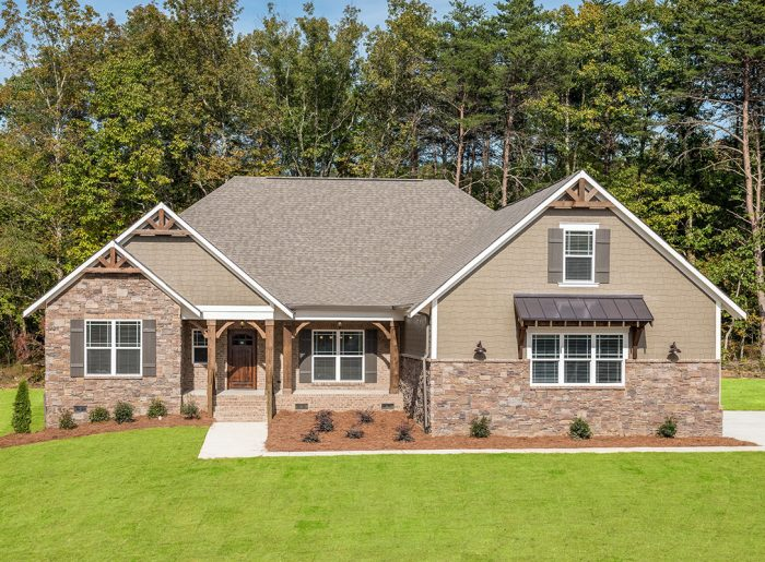 Grand two story new home by Pratt Home Builders