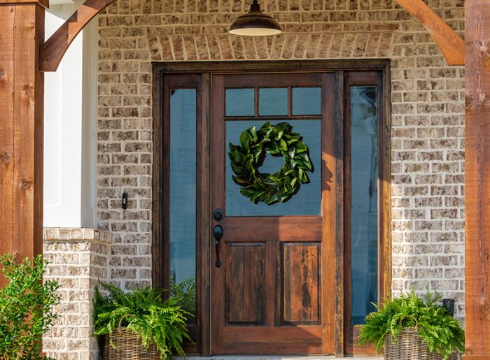 welcoming front door on Pratt Home Builders new home