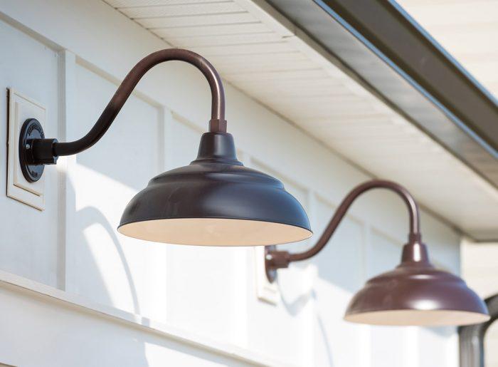 trending outdoor lighting in new home Pratt Homes