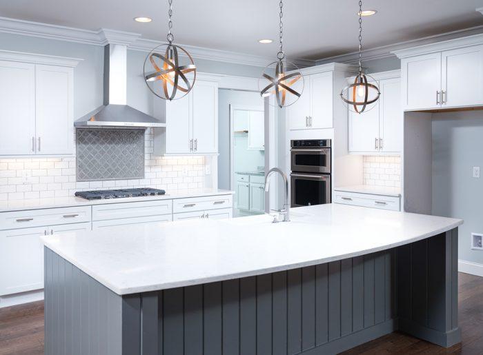 modern white kitchen in new Pratt Home