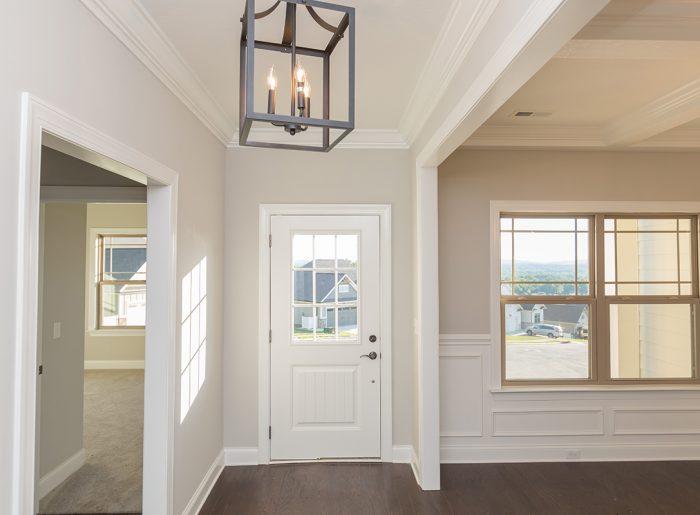 bright entry of new home by Pratt