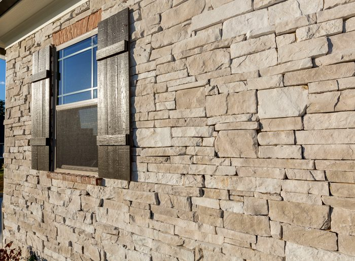 stacked stone exterior of new home by Pratt Homes