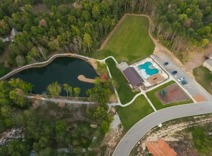 aerial view of GreyHawk Trails by Pratt Home Builders
