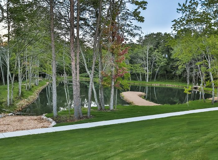 Fishing lake at GreyHawk Trails by Pratt Home Builders